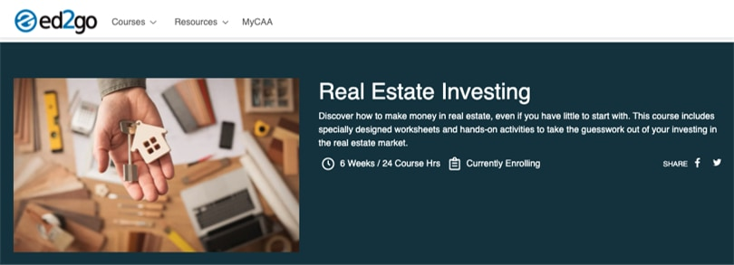 Image Real Estate Investing Course - ed2Go
