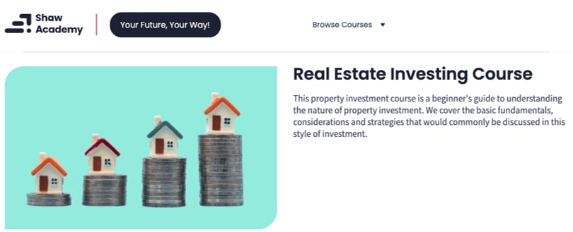 Image Real Estate Investing Course - Shaw Academy