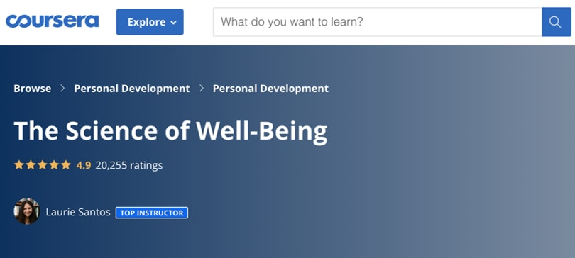 Image Best Personal Development Courses Coursera - Science of Well-Being
