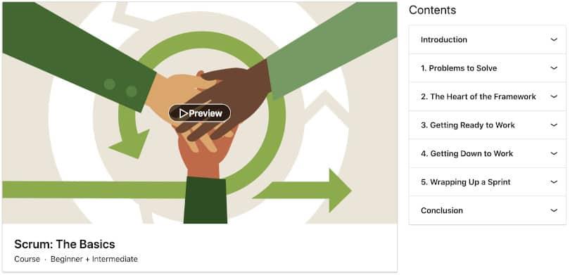 Image Project Management Courses - Scrum:The Basics Linkedin