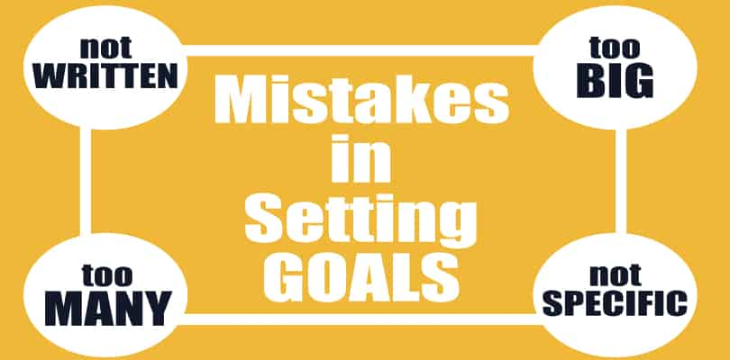 Image Goal Setting Steps - Mistakes