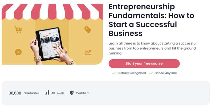 Image Best Shaw Academy Courses - Entrepreneurship Fundamentals