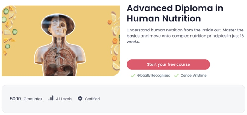 Image Best Shaw Academy Courses - Diploma Human Nutrition