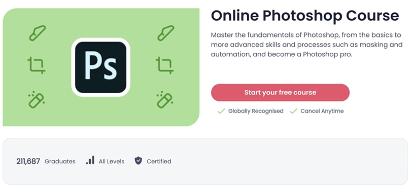 Image Best Shaw Academy Courses - Online Photoshop