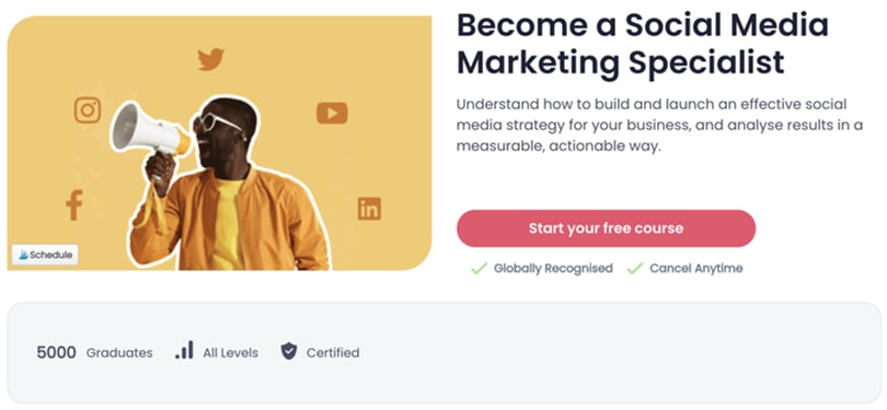 Image Best Shaw Academy Courses - Social Media Marketing Specialist