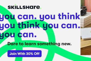 shop-skillshare-30-percent campaign
