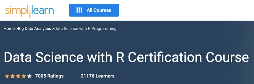 Image Best Simplilearn Courses - Data Science With R Certification