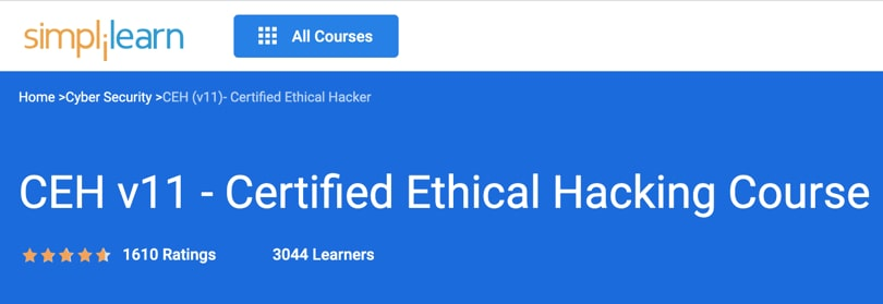 Image Best Simplilearn Courses - Ethical Hacking CEH v11