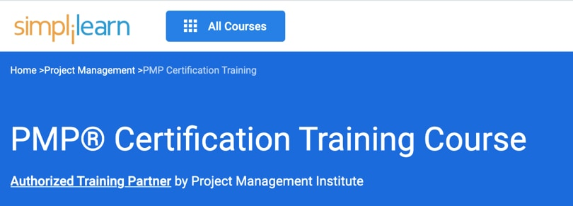 Image Best Simplilearn Courses - PMP Certification Training