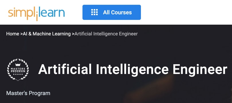 Image Best Simplilearn Courses and Masters - AI Engineer