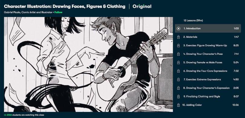 Image of Best Skillshare Courses - Character Illustration