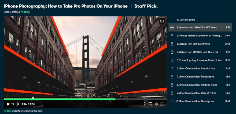Image of Best Skillshare Courses - iPhone Photography