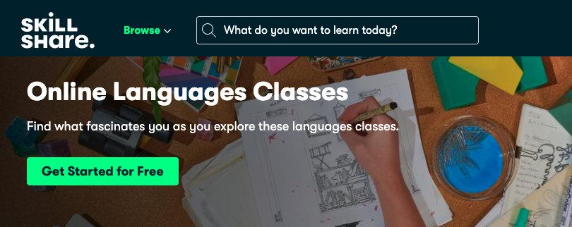 Image Best language courses online - Skillshare