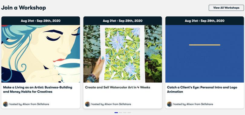Image Skillshare Review - Screenshots - Workshops