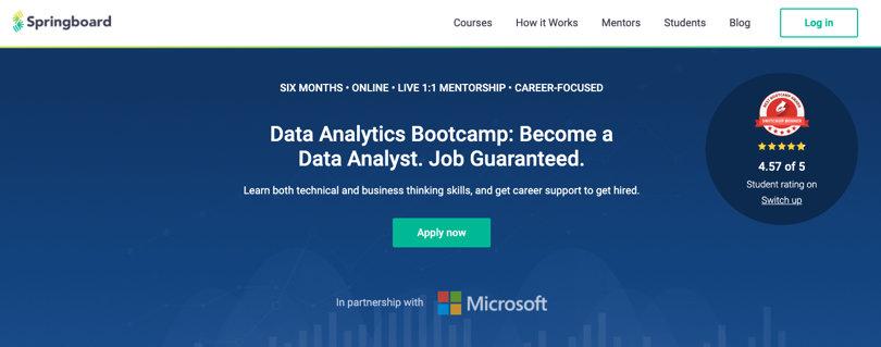 Image Springboard Courses - Data Analytics Bootcamp