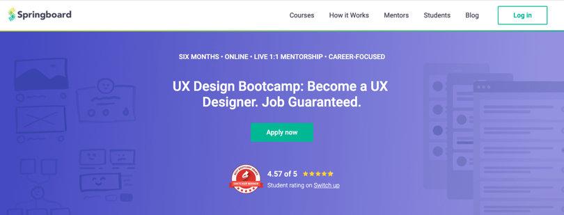Image Springboard Courses - UX Design Bootcamp