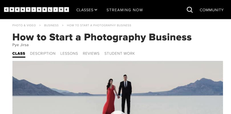Image Best Photography Courses - Start Photography Business - Creativelive