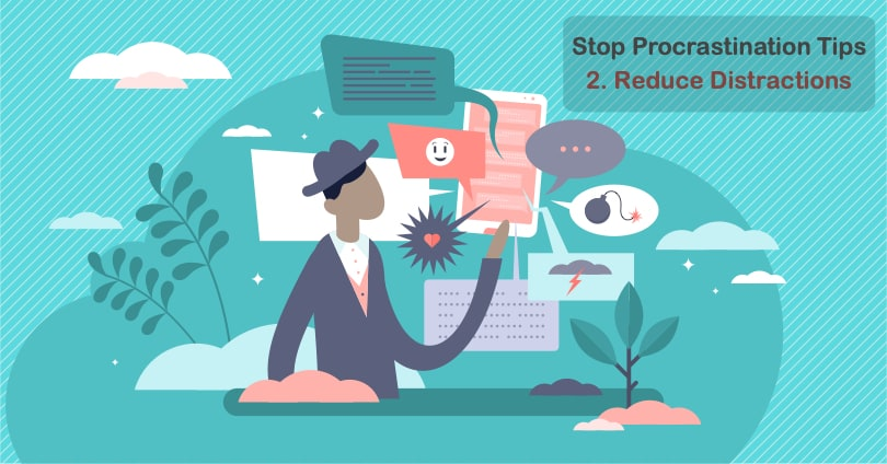 Image Stop Procrastination Tips - Reduce Distractions
