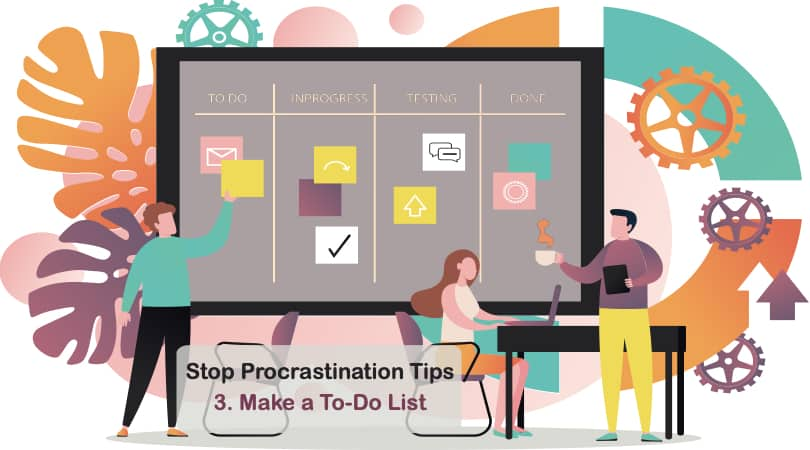 Image Stop Procrastination Tips - Make a To-Do List