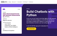 Table Image of Python Chatbots, codecademy