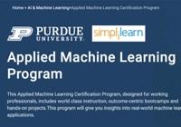 Table image ML Courses - Simplilearn