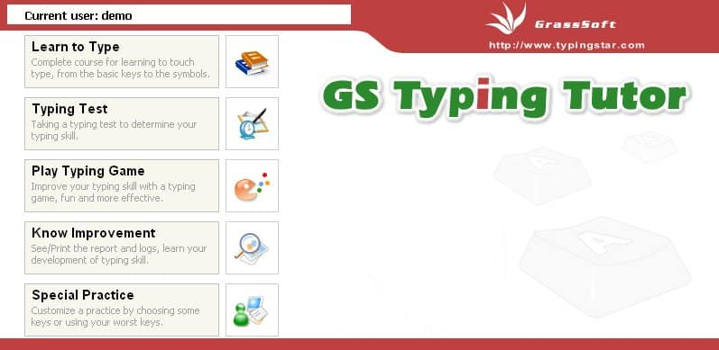 Cover Image Typing Software - GS Typing Tutor