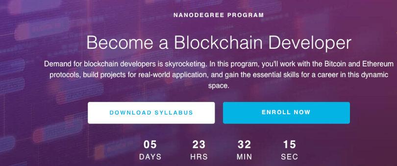 Image Best Udacity Nanodegrees - Become a Blockchain Developer