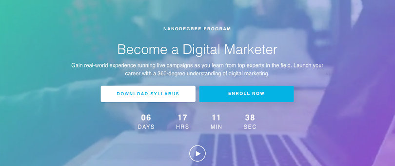 Image Best Udacity Nanodegrees - Become a Digital Marketer