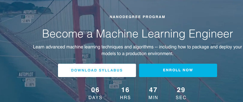 Image Best Udacity Nanodegrees - Become a Machine Learning Engineer