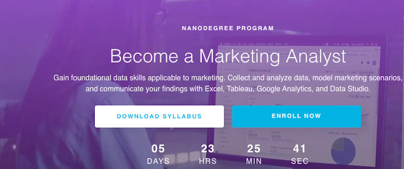 Image Best Udacity Nanodegrees - Become a Marketing Analyst