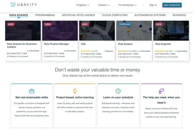 Image Udacity Review - Screenshot Homepage