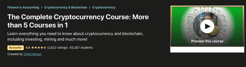 Image Udemy cryptocurrency course - Complete Cryptocurrency Course 5 in 1