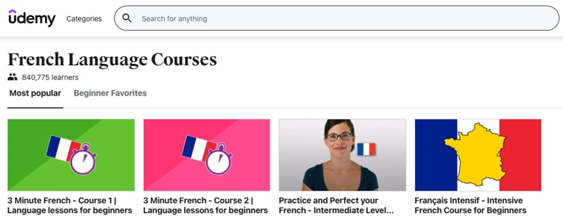 Image Udemy French Courses Online