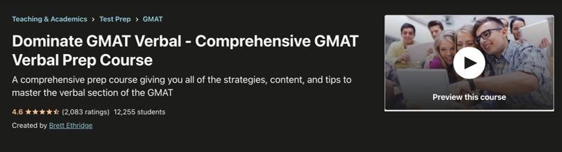 Image GMAT Test Prep Courses - Udemy GMAT Verbal Prep
