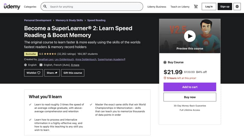 Image Udemy Review - Individual Course Landing Page