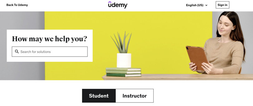 Image Udemy Review - Support and Help