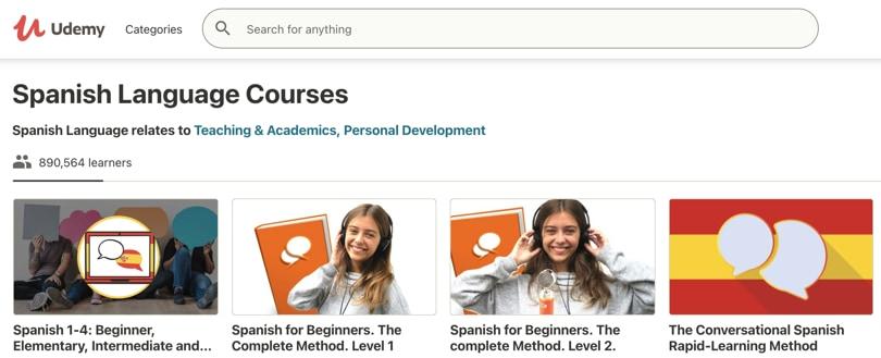 Image Udemy - Spanish Courses Online