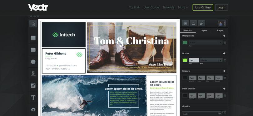 Image Vectr Online Graphic Design Software