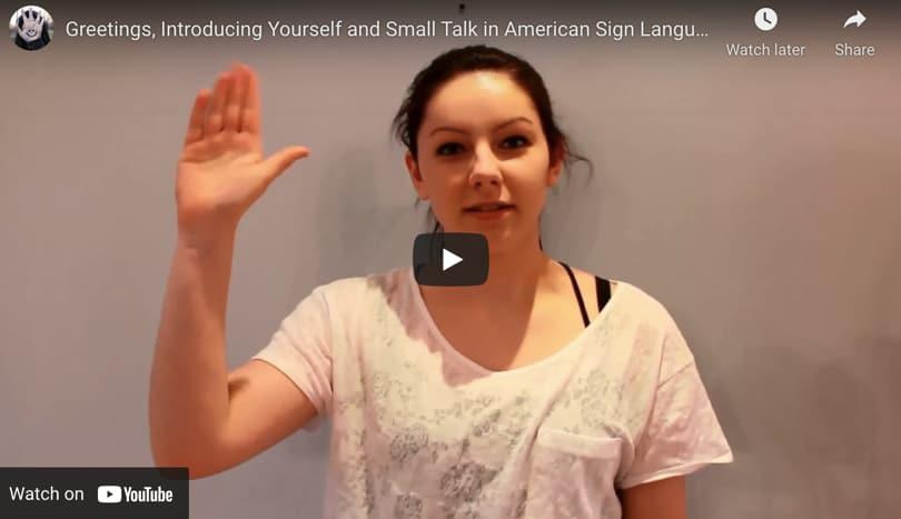 Image Video Greetings American Sign Language