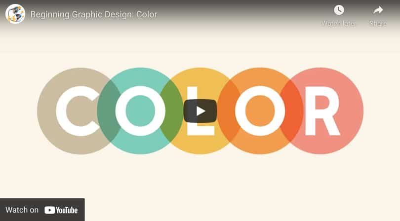 Image Video Learn Graphic Design Color