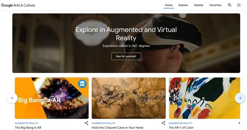 Image Virtual Field Trips - Google Arts & Culture