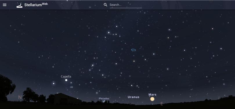 Image Virtual Field Trips - Stellarium