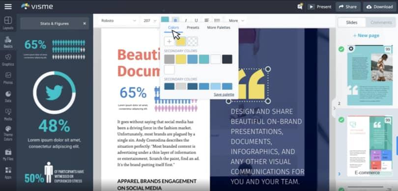 Image Visme Online Graphic Design Software