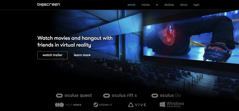Image Best VR Apps - Bigscreen Platform