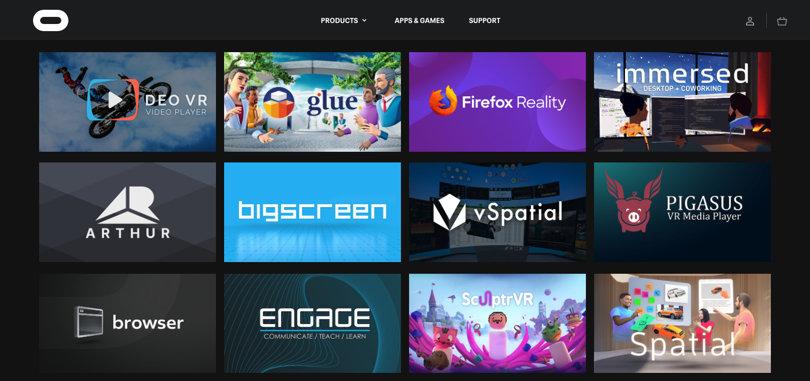 Image Best VR Apps - Oculus Platform