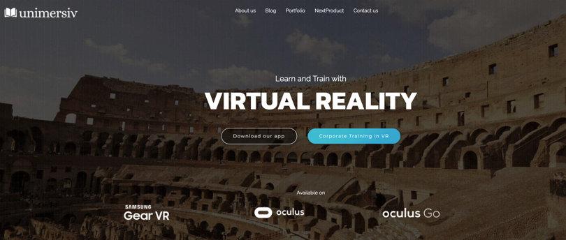 Image Best VR Apps - Unimersiv Platform